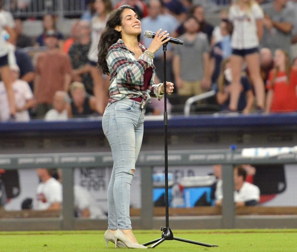 Sirena Grace performing at Braves game